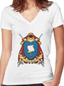 Assume Arms Coat of Arms Women's Fitted V-Neck T-Shirt