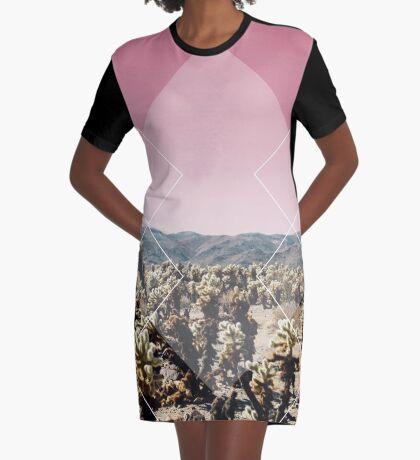 Desert Geo Graphic T-Shirt Dress