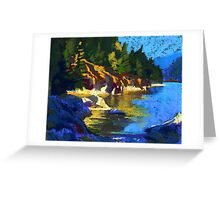 Belcarra. Yellow Reflections Greeting Card