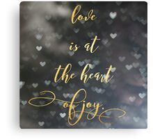 The Heart of Joy Canvas Print