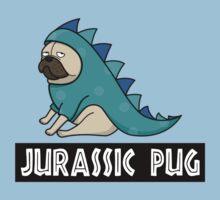 Jurassic Pug One Piece - Short Sleeve