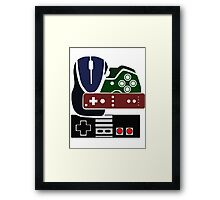 Gaming Collage with colour Framed Print