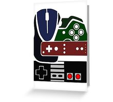 Gaming Collage with colour Greeting Card