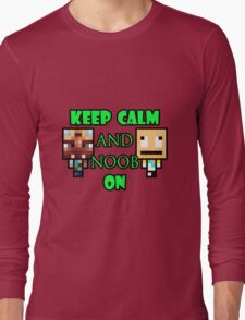 Keep Calm and Noob on Long Sleeve T-Shirt