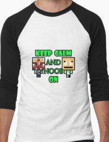 Keep Calm and Noob on Men's Baseball ¾ T-Shirt