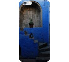 Blue Patio with Stairway iPhone Case/Skin