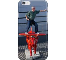 Amelia Air Cow - with passenger iPhone Case/Skin