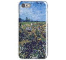 Vincent Van Gogh -  Green Vineyard, 1888 iPhone Case/Skin
