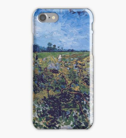 Vincent Van Gogh -  Green Vineyard, 1888 iPhone Case/Skin