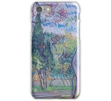 Vincent Van Gogh -  Garden Of  Saint-Paul Hospital, 1889 iPhone Case/Skin