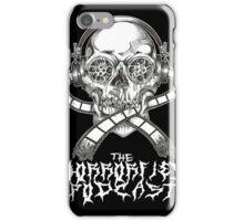 Black Metal Reel Skull (Black) iPhone Case/Skin