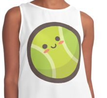 Cute Happy Tennis Ball Face Contrast Tank
