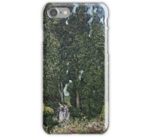 Vincent Van Gogh -  Cypresses 1898 iPhone Case/Skin