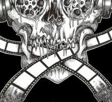 Black Metal Reel Skull (Black) Sticker