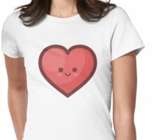 Cute Happy Loveheart Womens Fitted T-Shirt
