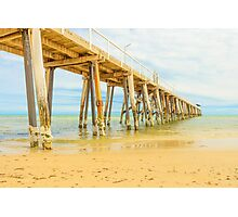 A peaceful autumn morning by the jetty (2) Photographic Print
