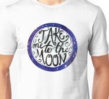 Take Me to the Moon Watercolor Sticker and Shirt Unisex T-Shirt