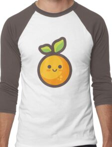 Cute Happy Orange Men's Baseball ¾ T-Shirt