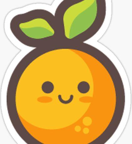 Cute Happy Orange Sticker
