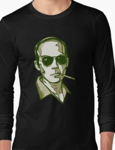 Hunter S. Thompson green Long Sleeve T-Shirt