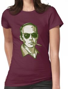 Hunter S. Thompson green Womens Fitted T-Shirt
