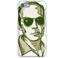 Hunter S. Thompson green iPhone Case/Skin