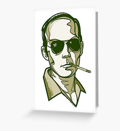Hunter S. Thompson green Greeting Card