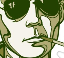 Hunter S. Thompson green Sticker