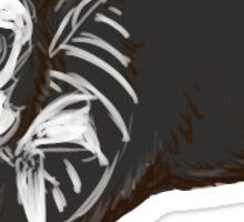 Halloween Skeleton Bunny Rabbit Sticker
