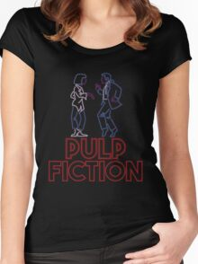Pulp Fiction - Neon Lights Women's Fitted Scoop T-Shirt