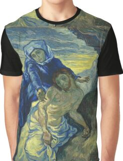 Vincent Van Gogh - Pieta After Delacroix Saint-Remy 1889 Graphic T-Shirt