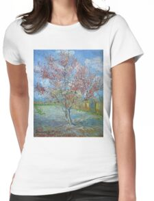 Vincent Van Gogh - Peach Tree In Bloom (In Memory Of Mauve), 1888 Womens Fitted T-Shirt