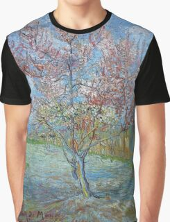 Vincent Van Gogh - Peach Tree In Bloom (In Memory Of Mauve), 1888 Graphic T-Shirt