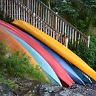 Kayaks on Display by Karen Jayne Yousse