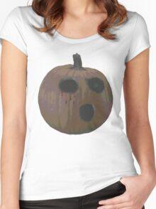 Spooky Pumpkin  Women's Fitted Scoop T-Shirt