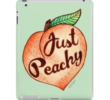 Just Peachy Watercolor Painting iPad Case/Skin