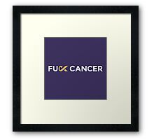 Fuck Cancer Merchandise Framed Print