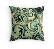Waves In Chaos Throw Pillow