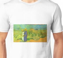 Vincent Van Gogh - Two Women Crossing  Fields, 1890 Unisex T-Shirt