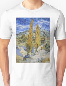 Vincent Van Gogh - Two Poplars On A Hill, 1889 Unisex T-Shirt