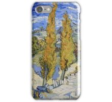 Vincent Van Gogh - Two Poplars On A Hill, 1889 iPhone Case/Skin