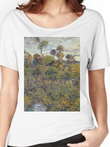 Vincent Van Gogh - Sunset At Montmajour, 1888 Women's Relaxed Fit T-Shirt