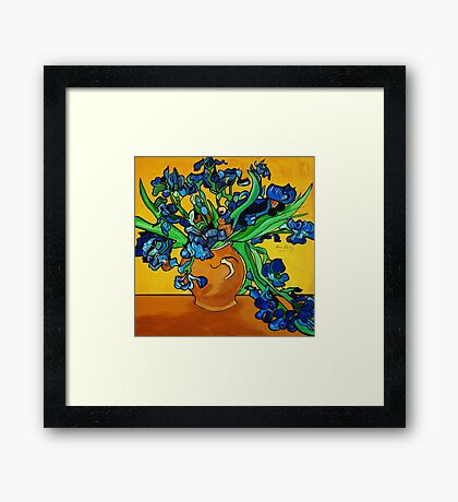 BLUE BY YOU  ABSTRACT FLOWERS Framed Print