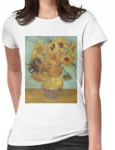 Vincent Van Gogh - Sunflowers, 1889 Womens Fitted T-Shirt