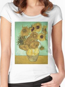 Vincent Van Gogh - Sunflowers 1888 Women's Fitted Scoop T-Shirt