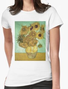 Vincent Van Gogh - Sunflowers 1888 Womens Fitted T-Shirt