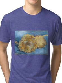 Vincent Van Gogh - Still Life With Two Sunflowers, 1887 Tri-blend T-Shirt