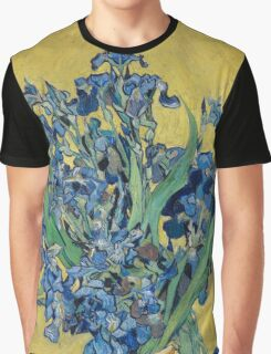 Vincent Van Gogh - Still Life With Irises, 1890 Graphic T-Shirt
