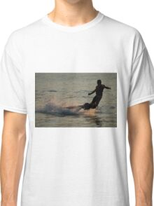 Flyboarder throwing his arms out while falling Classic T-Shirt