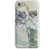 Vincent Van Gogh - Still Life Glass With Carnations, 1890 iPhone Case/Skin